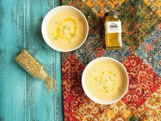 Roasted Fennel & Cauliflower Soup